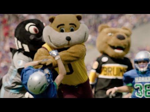 Slow-Mo: Goldy Gopher's Touchdown Run
