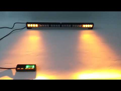 "56W LED 30/"" Light Bar Warn Flash Emergency Beacon Response Roof Top Strobe Amber"