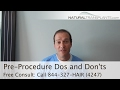 Hair Transplant Results | Pre-Procedure Dos and Don'ts