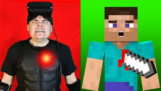 Minecraft VR But I Can Feel Pain.. (Haptic Suit)