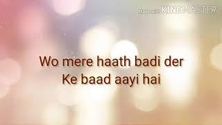 Chandni Raat   Ali sethi   unplugged with lyrics