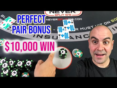Perfect Pair BONUS - $10,000 Win Blackjack Session