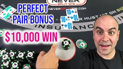 Perfect Pair BONUS - $10,000 Win Blackjack Session