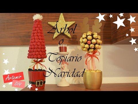 Rbol navide o o topiario de chuches diy manualidades - Arboles de navidad de chuches ...