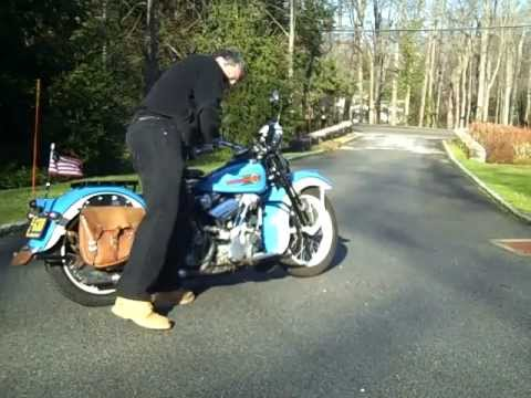 Start & Ride a Classic 1936 Harley Knucklehead Motorcycle