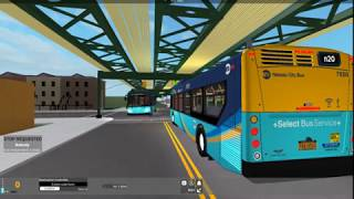 Nassau Transit Authority (Roblox) 2019 New Flyer Xcelsior XD40 7650 | n20 to Spring Creek Term