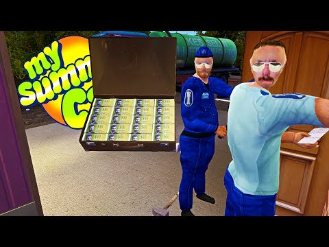 MY SUMMER MILLIONAIRE! SUITCASE FOUND + POLICE PROTECTION! - My Summer Car Gameplay Highlights Ep 75