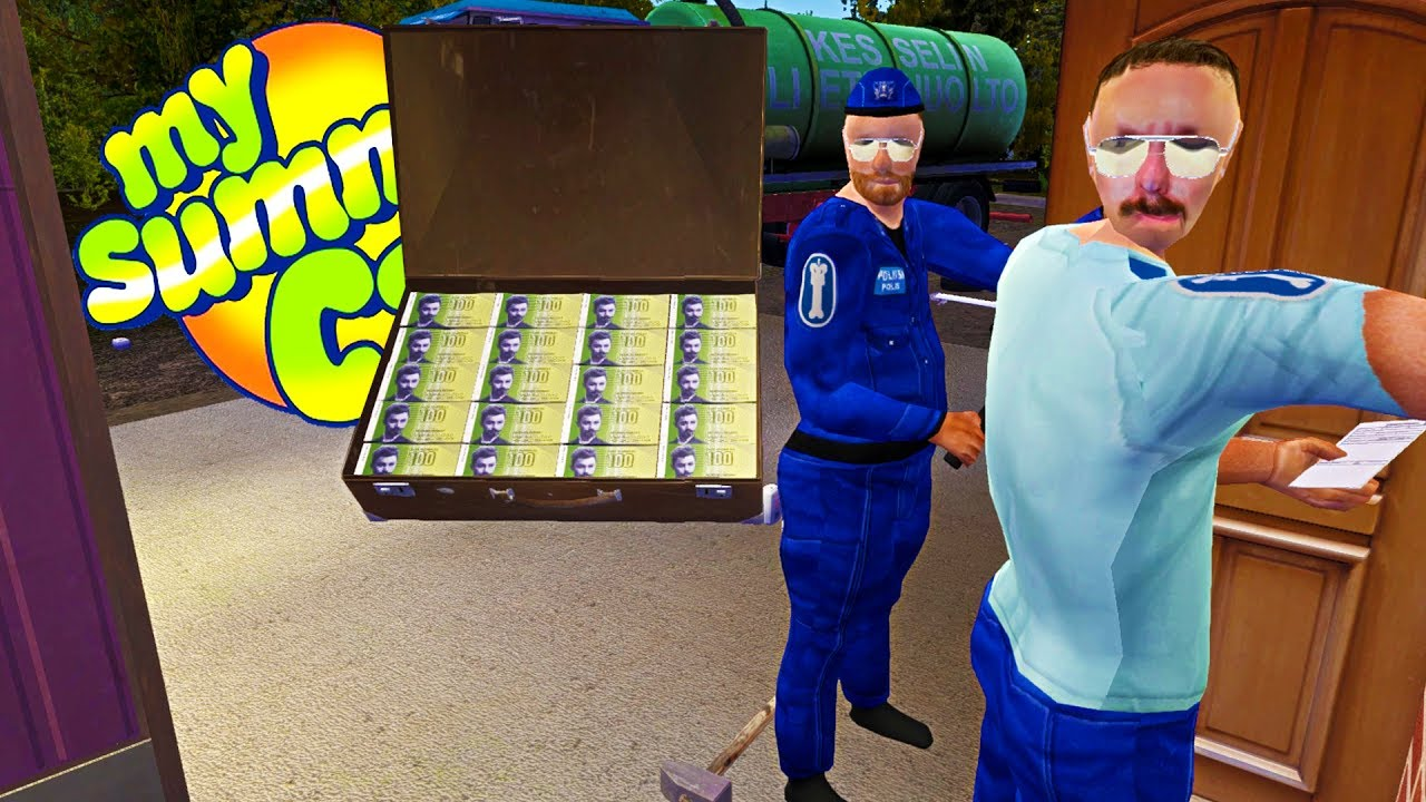 my summer millionaire suitcase found police protection my summer car gameplay highlights. Black Bedroom Furniture Sets. Home Design Ideas