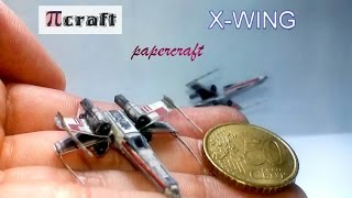 X-Wing papercraft mini