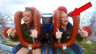 Girls Getting Scared | Funny Slingshot Ride Compilation
