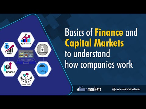 Basics of Finance and Capital Markets to understand Shares and Companies