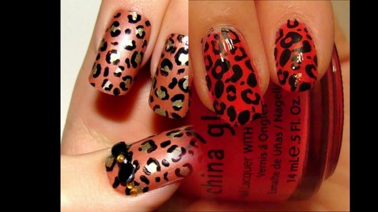 Diseño De Uñas Decoradas De Leopardo Sencillas Y Elegantes Youtube