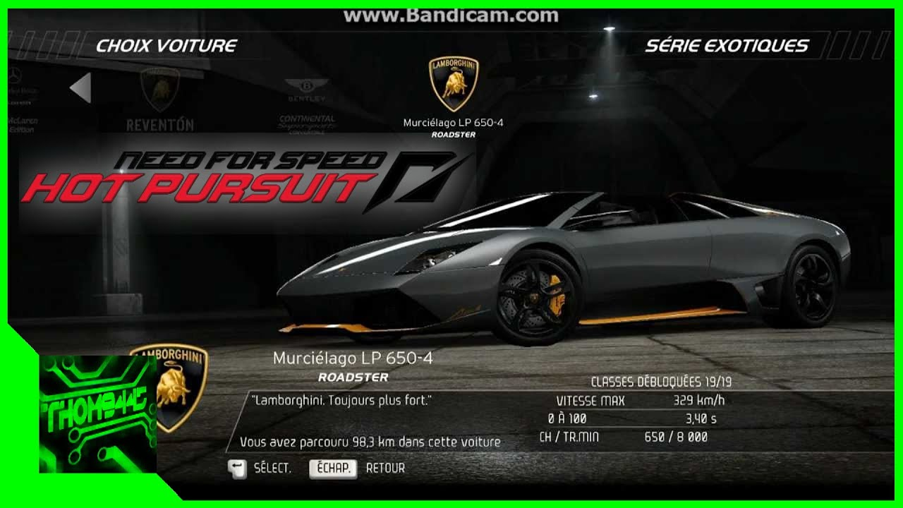 need for speed hot pursuit toutes les voitures youtube. Black Bedroom Furniture Sets. Home Design Ideas