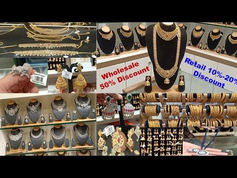 One Gram Gold Jewelry imitation Jewelry shopping Haul Chickpet Bangalore Shopping 50% Discoun