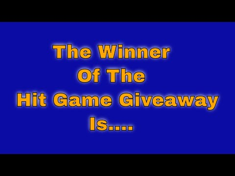 The Winner Of The Hit Game Giveaway is....