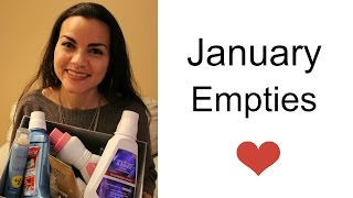 January 2015 Empties - Health and beauty products I used up