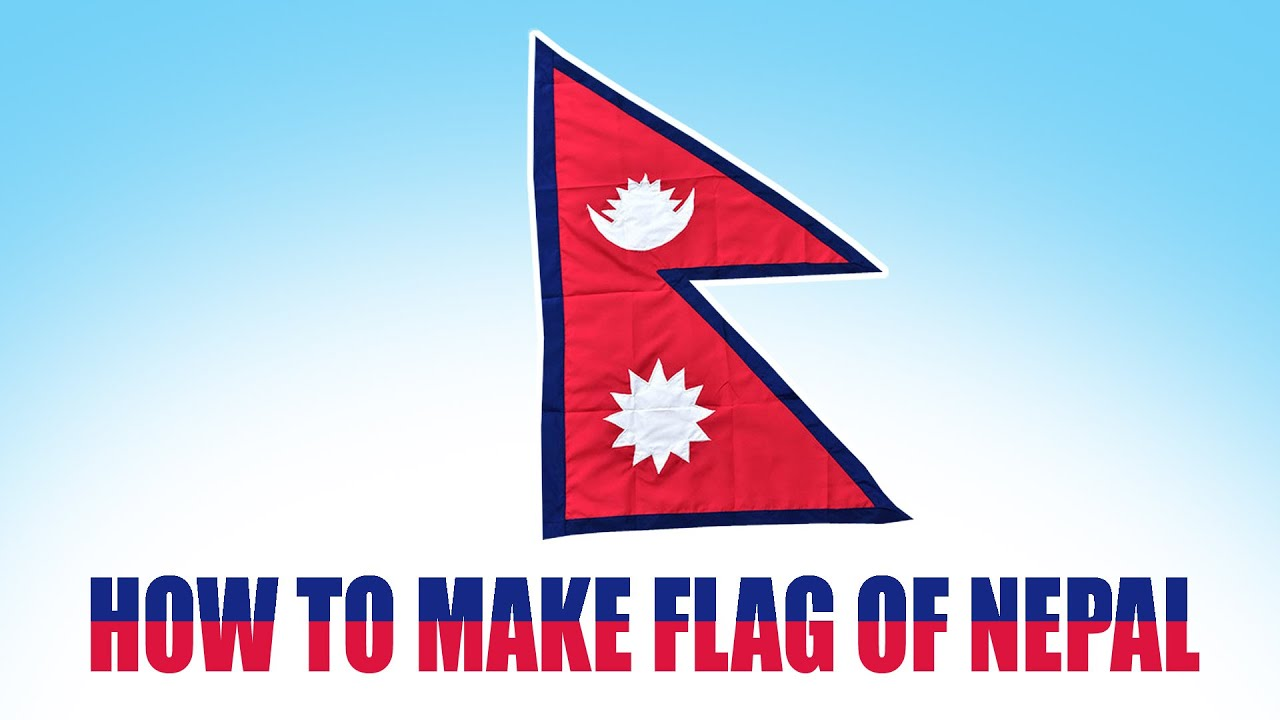 Flag Of Nepal How To Draw Flag Of Nepal Youtube