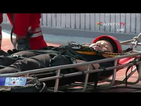Aksi Penyelamatan Dari Indonesia Vertical Rescue