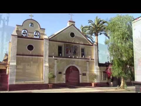 "Olvera Street, ""The Birthplace of Los Angeles California""  Historic Tourist attraction"