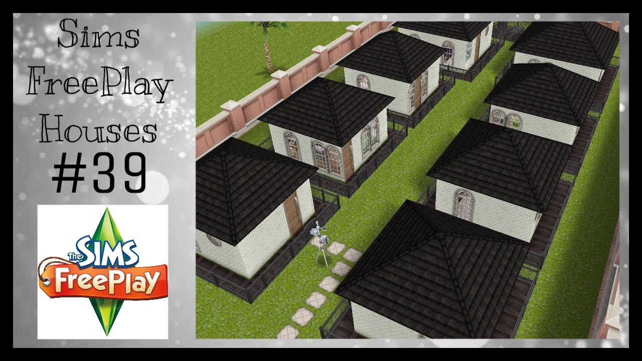 TINY TOWN HOUSES Sims FreePlay House Idea #39 YouTube