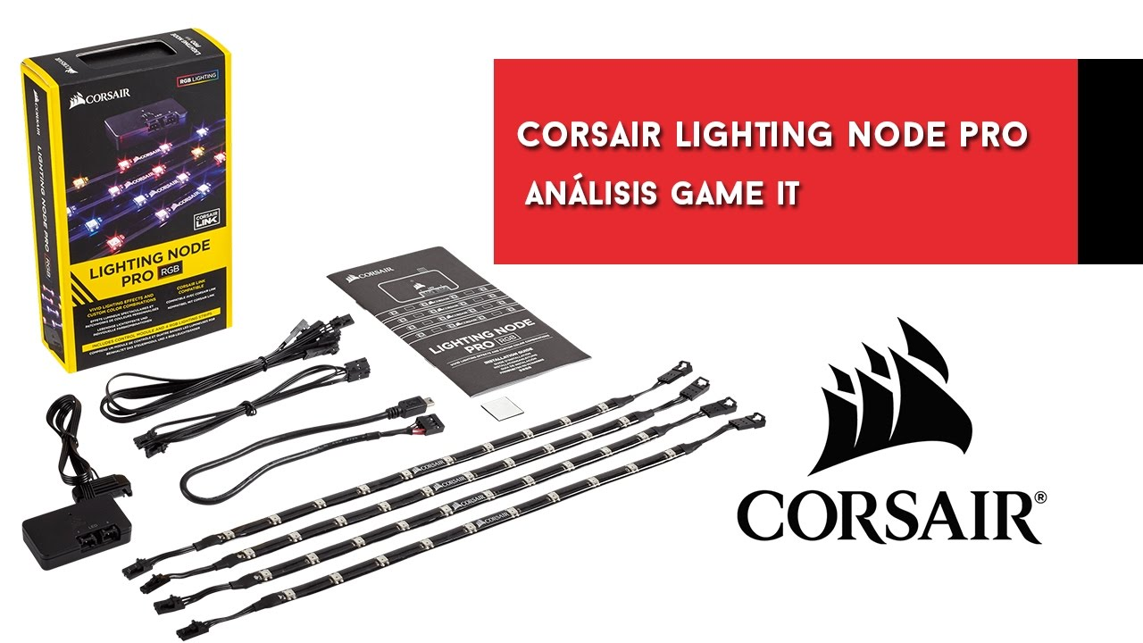 corsair lighting node pro efectos iluminacin y tutorial corsair link