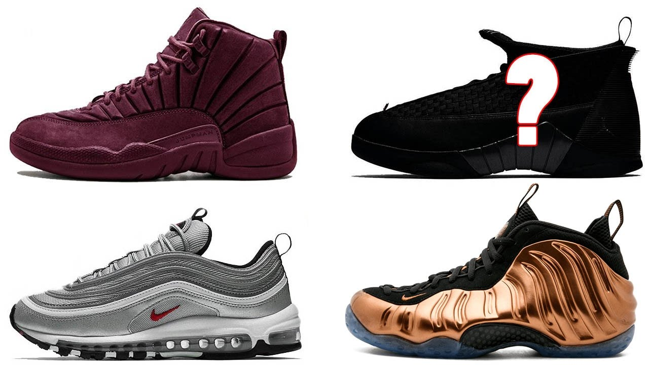 23ed02b66b7 PSNY Air Jordan 12 & Jordan 15, Air Max 97 Silver Bullet Info, Foamposite  One Copper and More