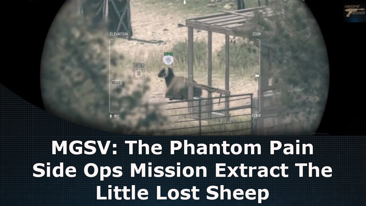 Mgsv The Phantom Pain Side Ops Mission Extract The Little Lost