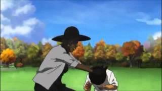 Naruto and Boondocks Fight Scene Comparison