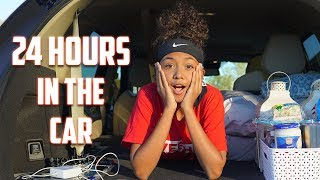 24 Hour Challenge Overnight in My Mom's Car | LexiVee03