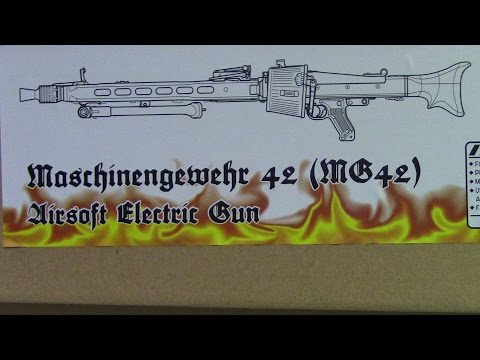 WW II  Maschinengewehr 42 (1.1 MG42 Airsoft Machine Gun)