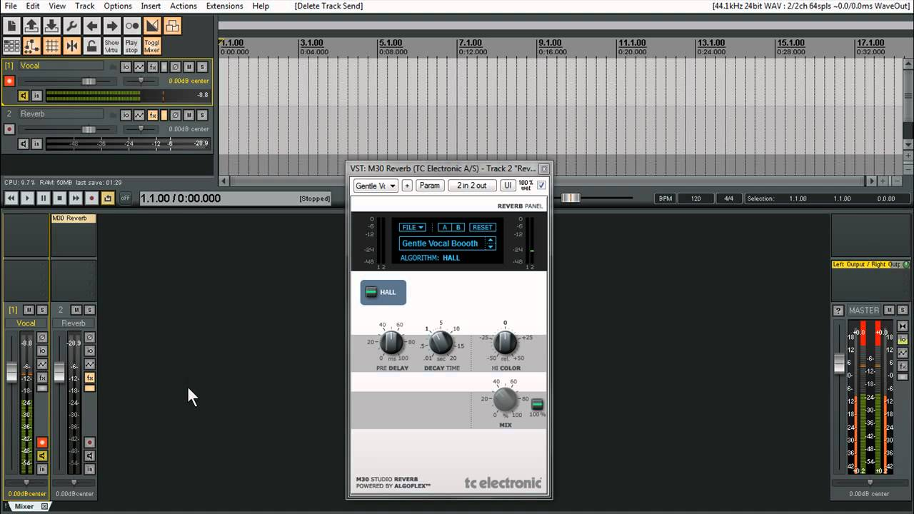 Tutorials For Reaper | Record Vocals with Reverb | Direct Monitoring |  Software Monitoring