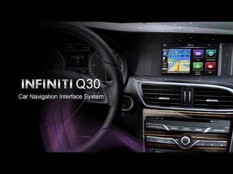 INFINITI Q30 Car Navigation Interface System