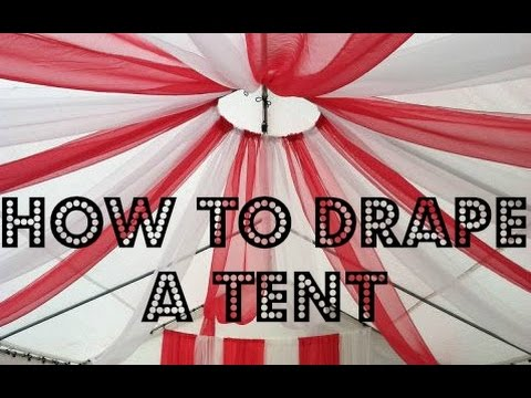 How to drape a tent & How to drape a tent - YouTube
