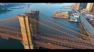 I ❤️ NY!! 4K Drone Flight From Brooklyn to Manhattan (Almost hit the bridge )