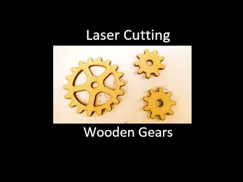 Laser Cutting Wooden Gears - GearGenerator Software