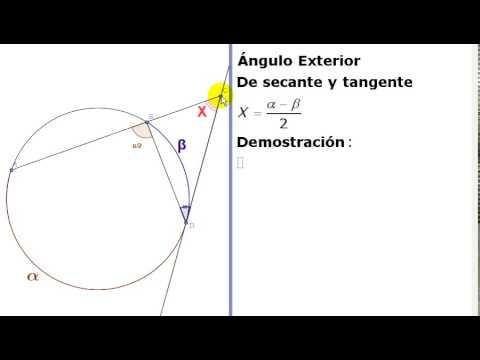 Ngulo exterior por una secante y tangente en la for Exterior tangente y secante