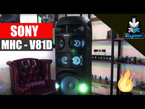 Sony MHC V81D Wireless Audio System Tower Speaker 360 Lights