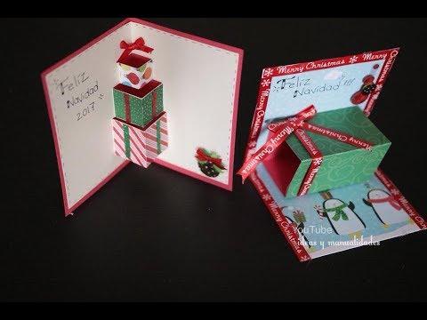 Tarjetas para navidad muy faciles de hacer y originales ideas y manualidades youtube - Manualidades para navidades faciles ...