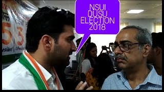 NSUI DUSU ELECTION 2018 Candidates press conference
