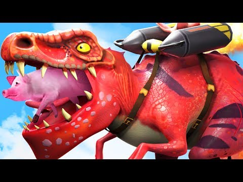 NEW T-REX With A Jetpack Eats Everything! - Hungry Dragon Gameplay Part 12 | Pungence