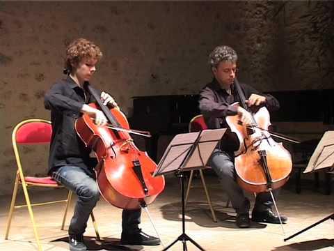 J. Offenbach - duo pour violoncelles / Raphaël Pidoux & Bruno Philippe @Festival 1001 Notes