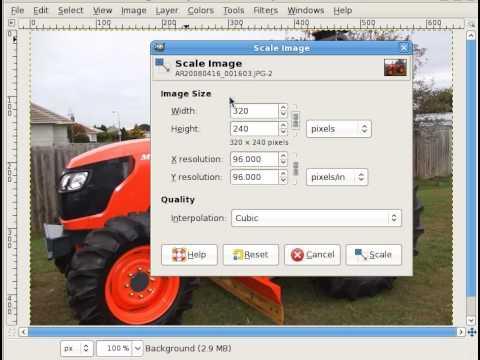 resize image using gimp