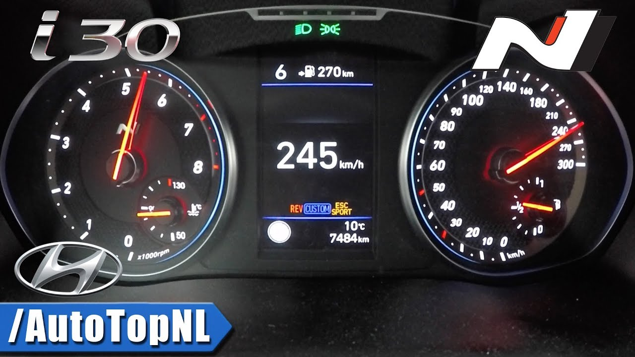 hyundai i30n 275hp acceleration speed 0 245km h by autotopnl rh youtube com