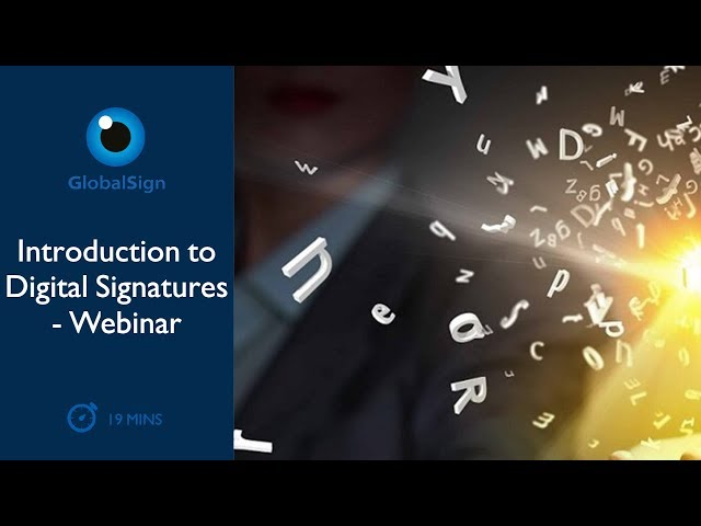 Introduction to Digital Signatures - Webinar