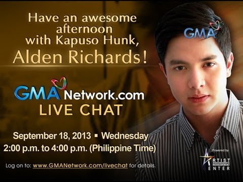 Live Chat: Alden Richards - September 18, 2013