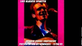 Luis Alberto Spinetta - Estadio Obras - Presentación de Kamikaze - 15/08/1982
