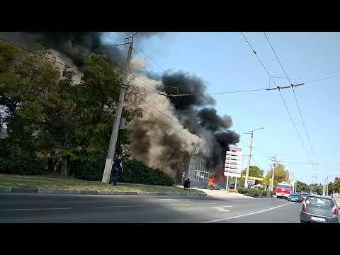 Сгорел магазин Алакоз в Севастополе