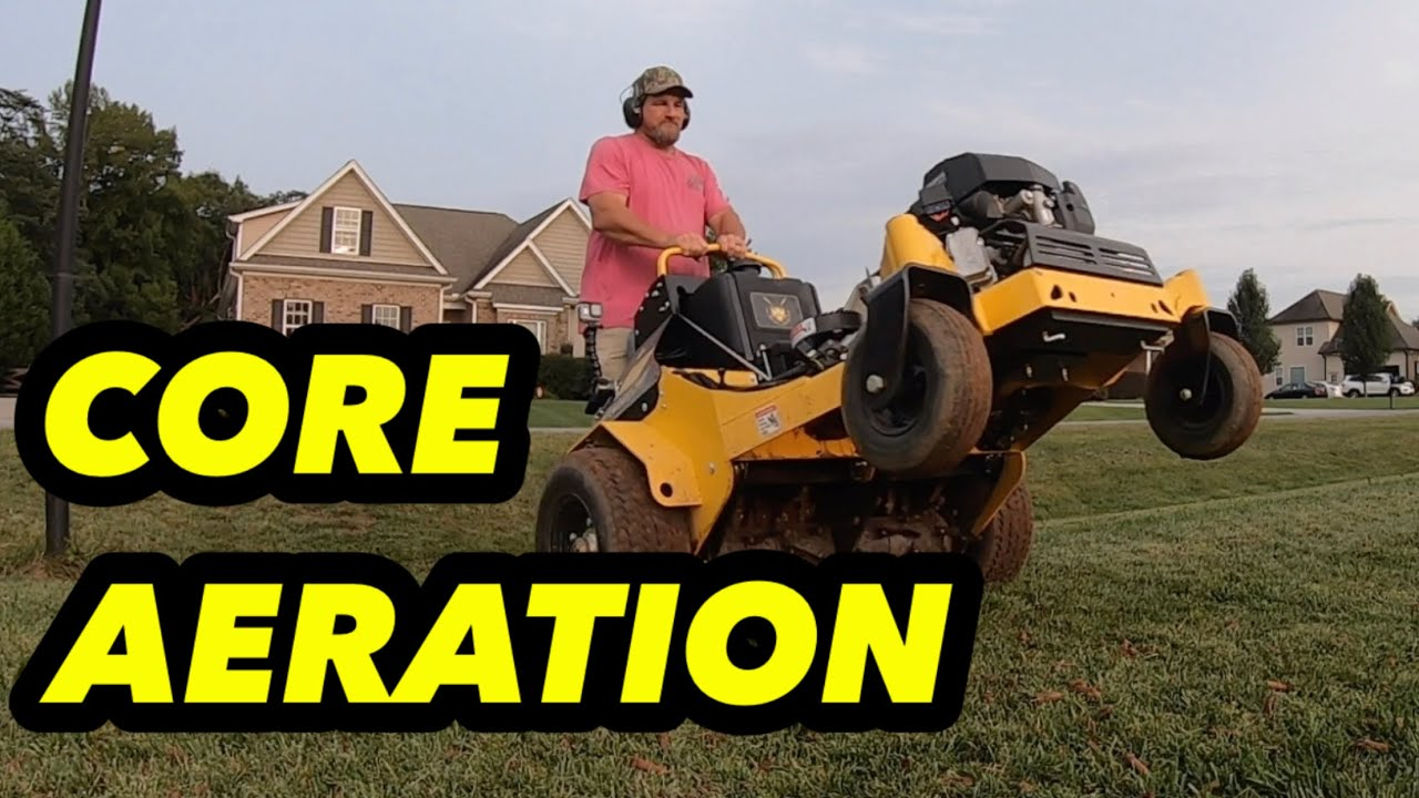 Overseed an Existing Lawn // Core Aeration