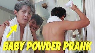 BABY POWDER PRANK KE PUTU BAHAGIANA !! NGAKAK WKWKWK !! - Prank Indonesia
