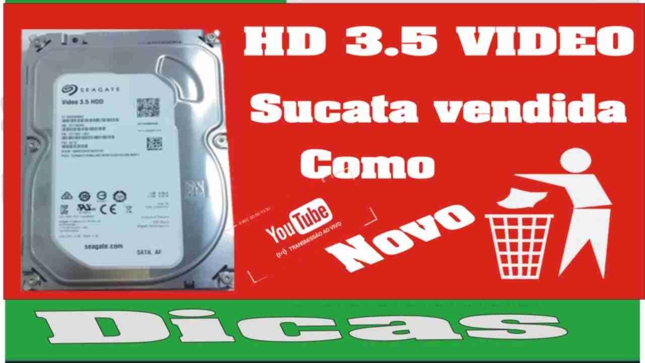 HD 3.5 vídeo danificar DVR ou NVR